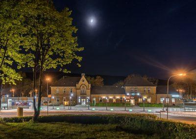 Bahnhof Zella-Mehlis bei Nacht
